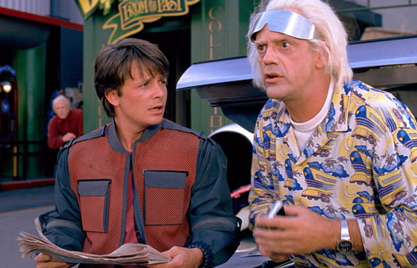 Doc Brown and Marty from Back to the Future II