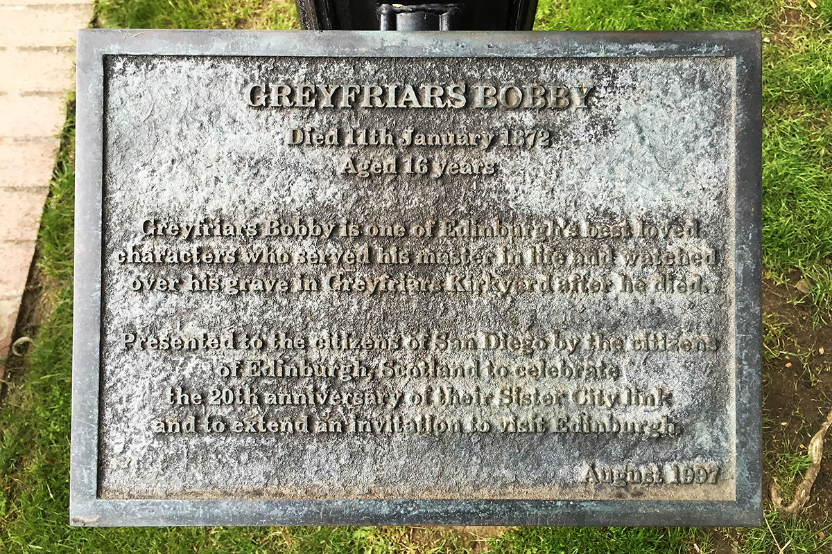 Greyfriar Bobby and Bum San Diego Edinburgh
