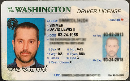 Dave Driver's License