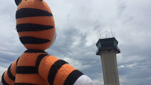 Hobbes at Tampa Airport