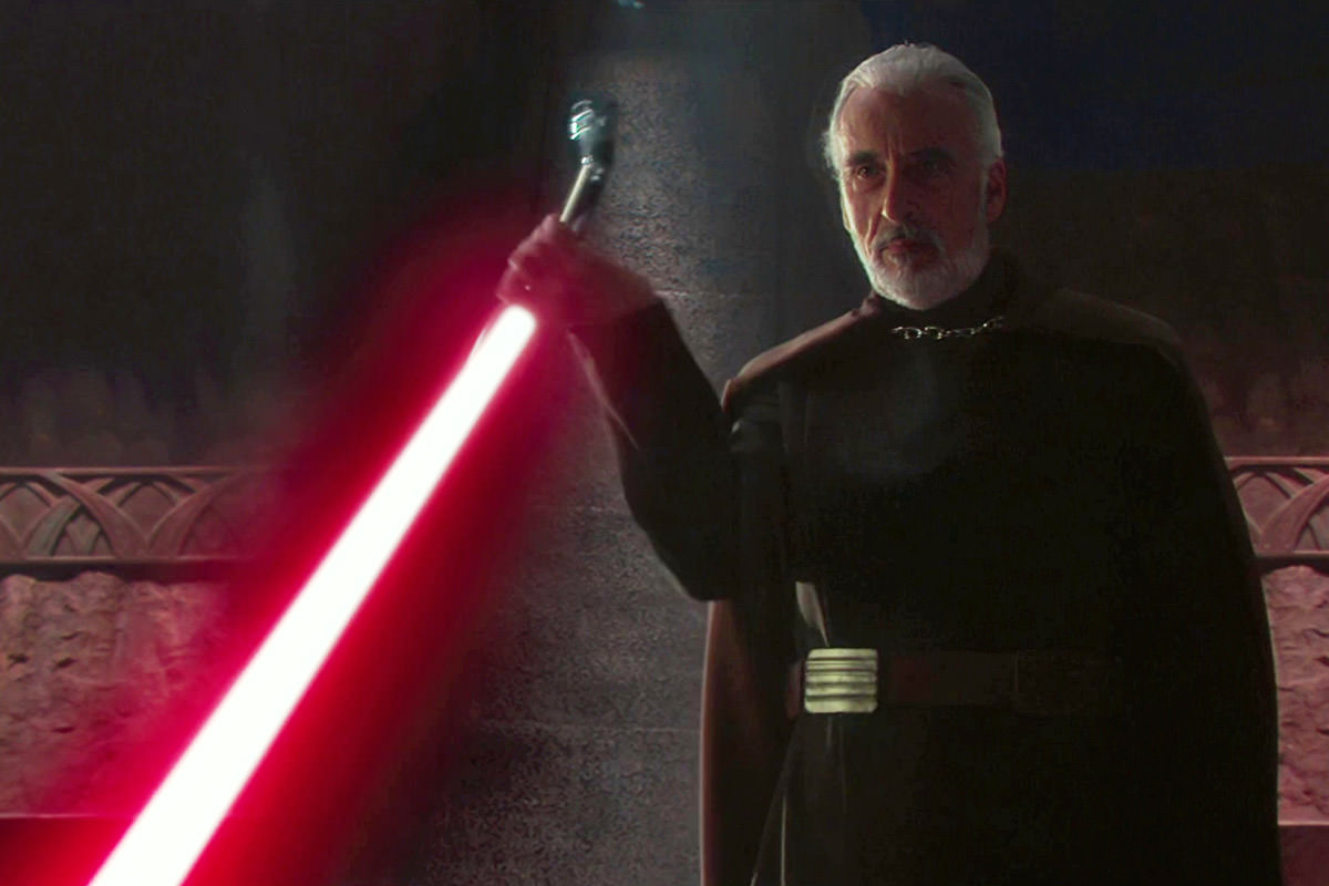 Christopher Lee as Count Dooku / Darth Tyranus