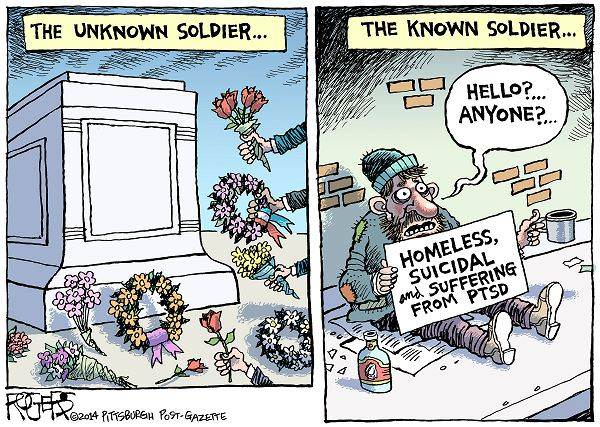 Homeless Vets Cartoon