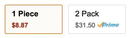 1 Piece: $8.87... 2-Pack: $31.50