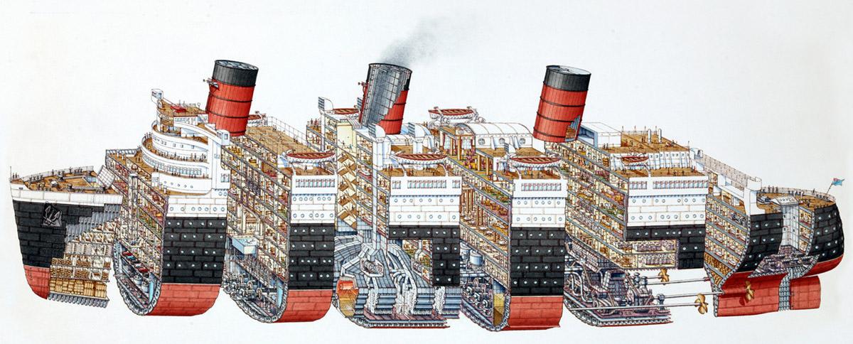 Stephen Biesty Cross-Section Illustration