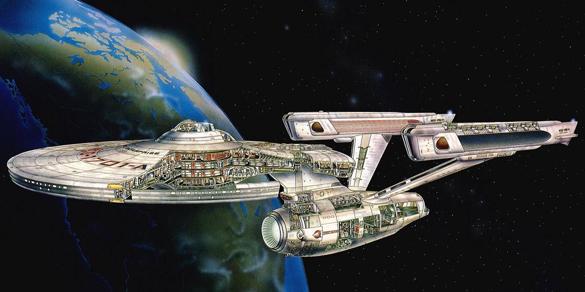 USS Enterprise Cross-Section Poster