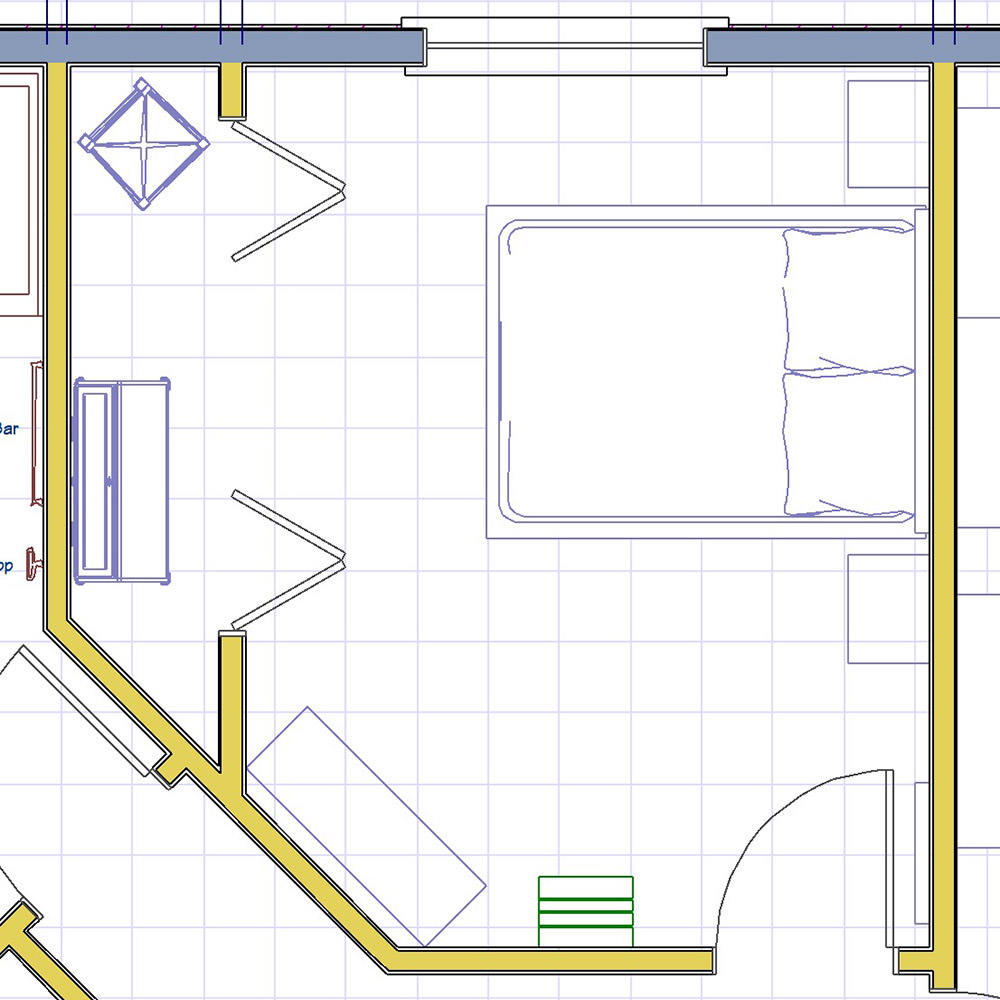 Guest Room Layout Map