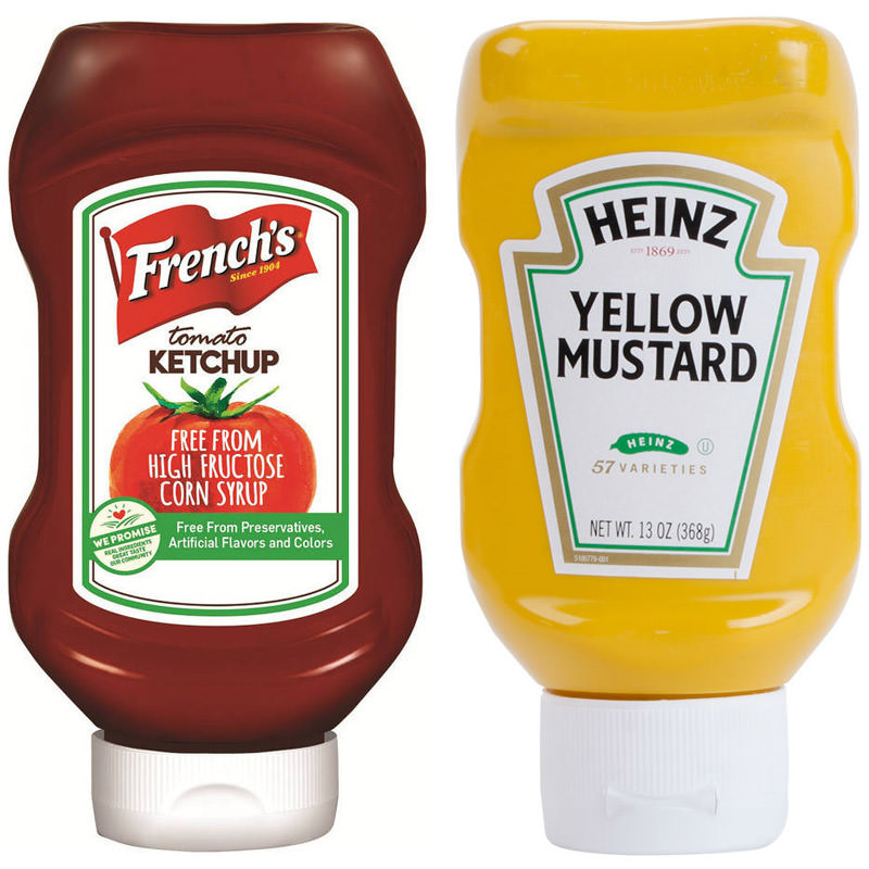 French's Ketchup and Heinz Mustard