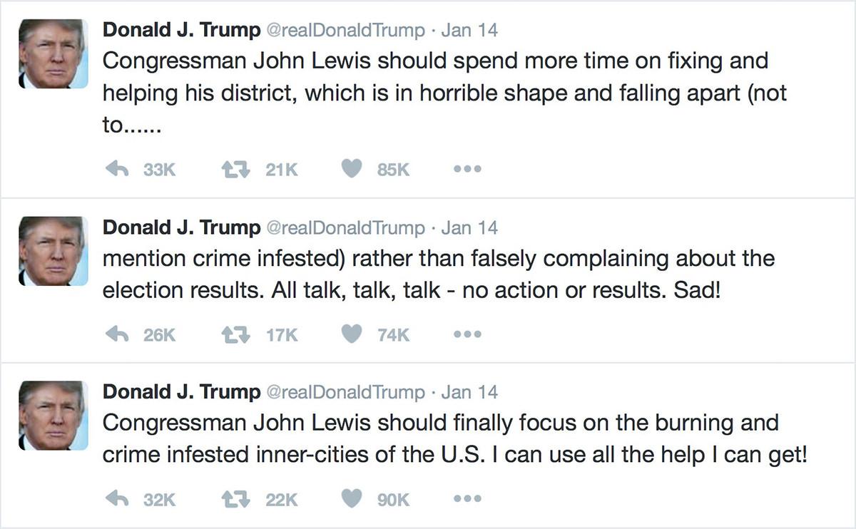 Trump on John Lewis